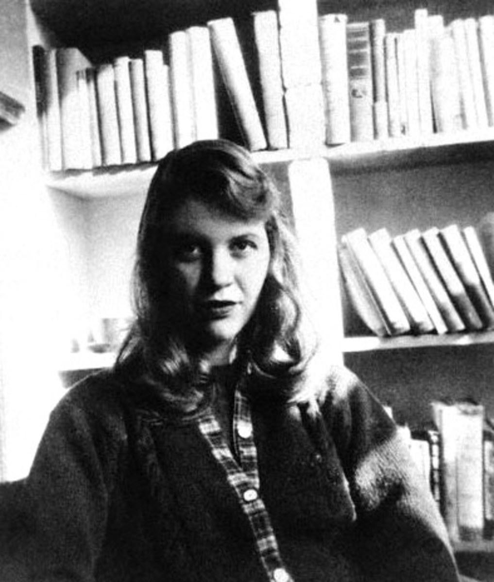 Sylvia Plath in 1957.