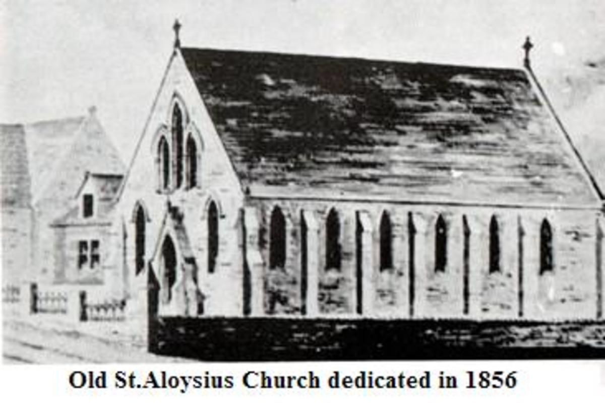 Original St. Aloysius Church built in 1854.
