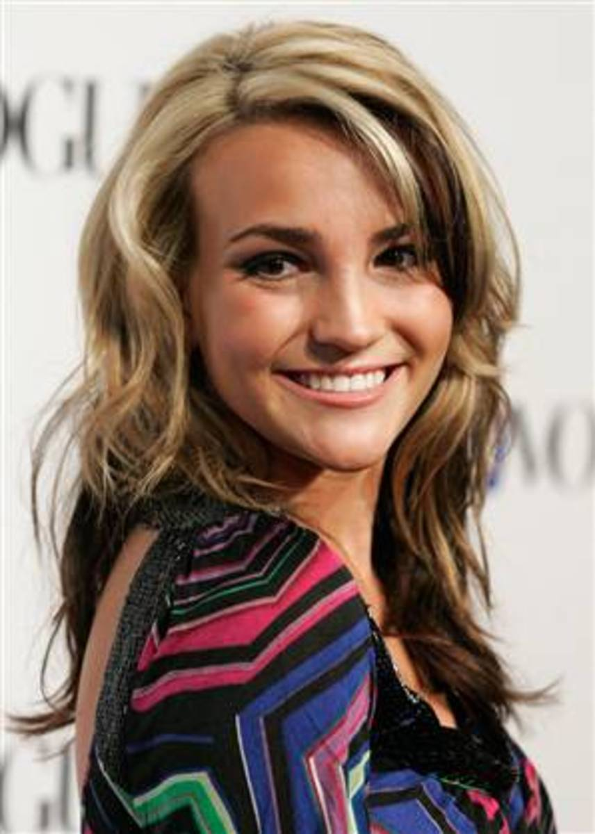 Jamie-Lynn Spears two-tone hair