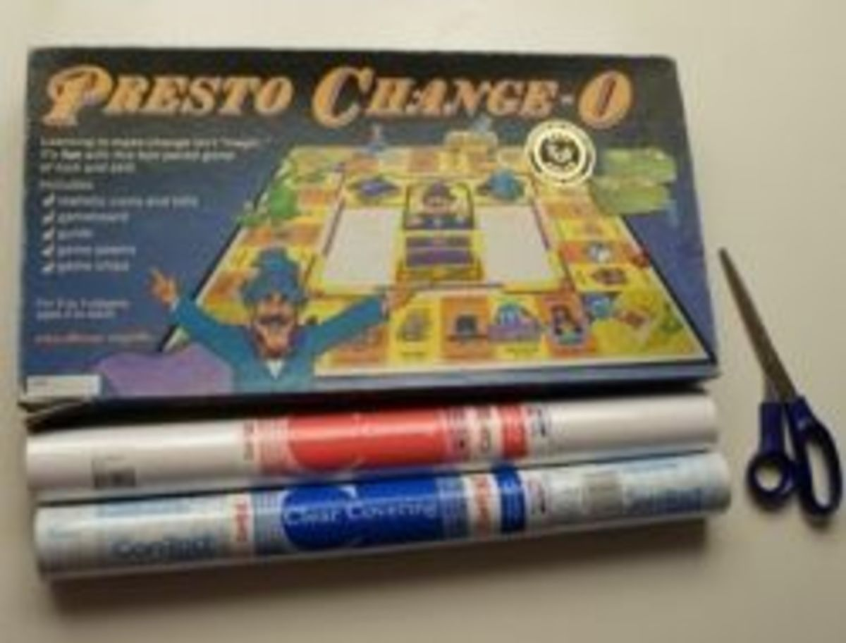 Presto Chango-O Becomes Hallow-Opoly with Scissors and Contact Paper