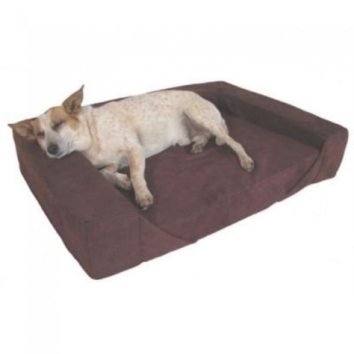 Large Memory Foam Dog Bed with Bolster
