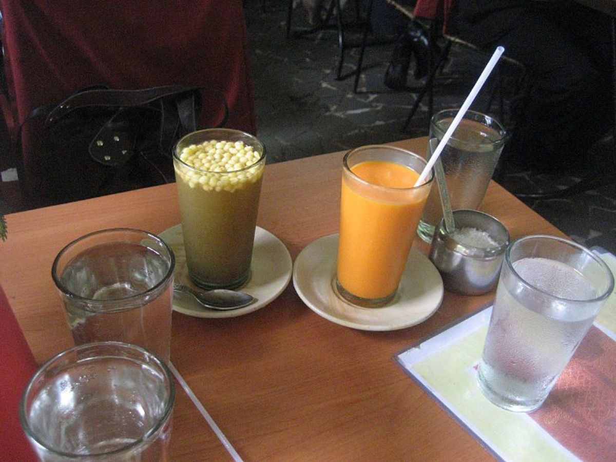 Two Indian drinks