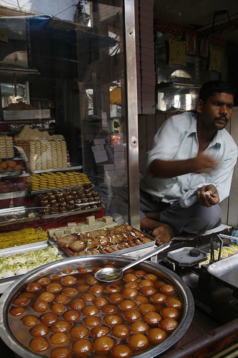 An Indian sweets shop