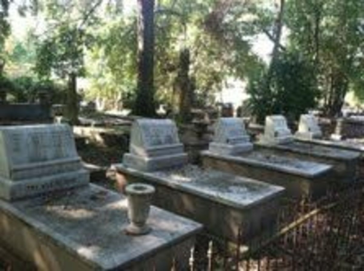Haunted American Cemetery Natchitoches LA
