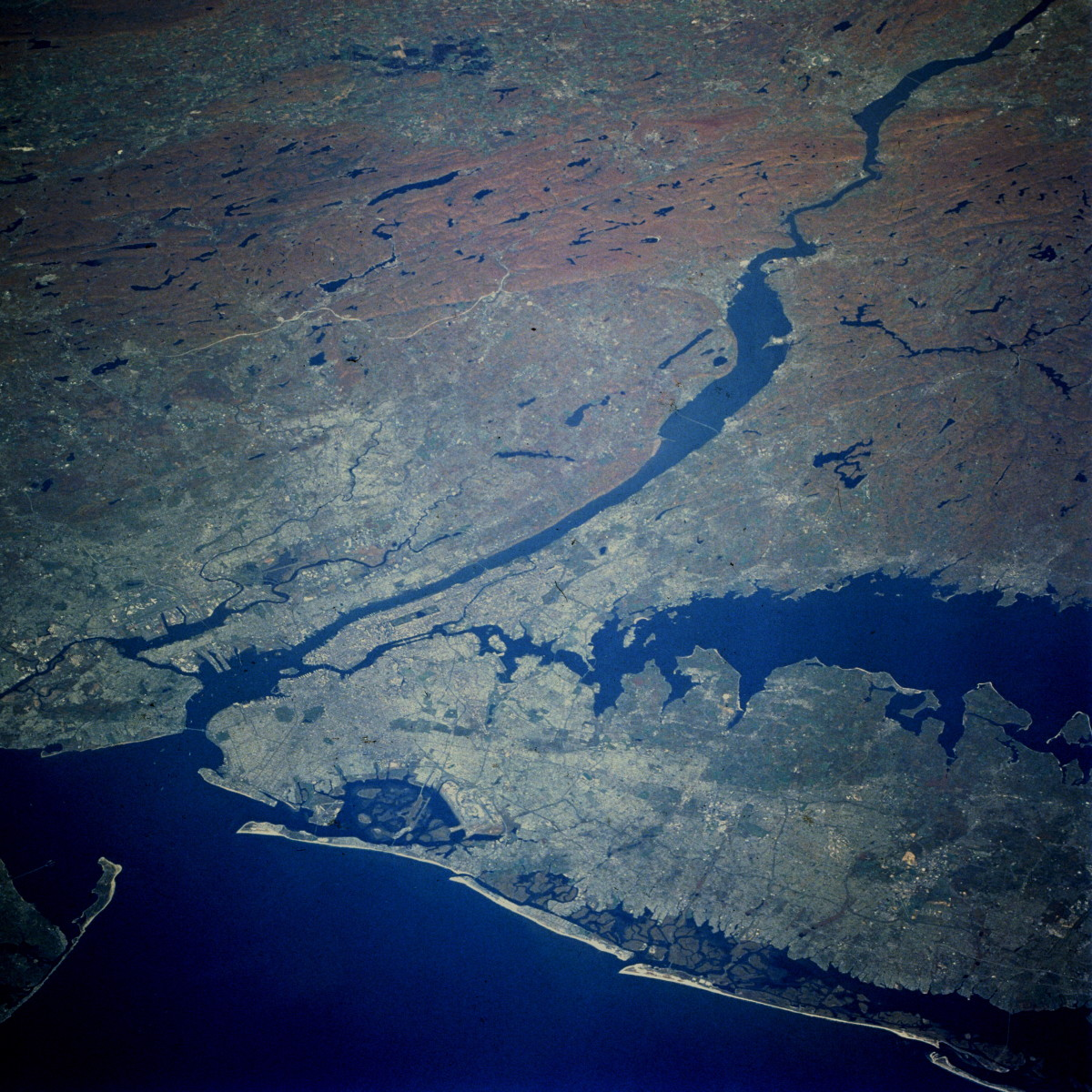 Snapshot of New York in Autumn as taken by the Shuttle Columbia