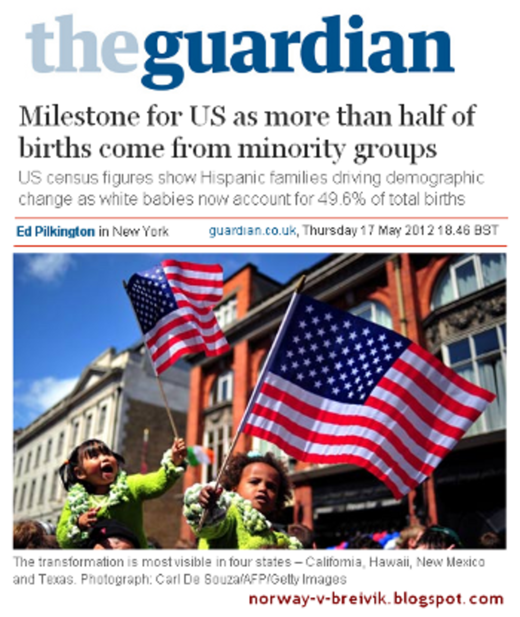 OK, SO WHITES ARE GOING TO BE THE MINORITY IN THE FUTURE OF AMERICA. I READ RECENTLY THAT TO BE AGAINST THIS DEVELOPMENT IS RACIST BUT TO APPLAUD IT IS NOT.  NOW LET ME THINK . . .
