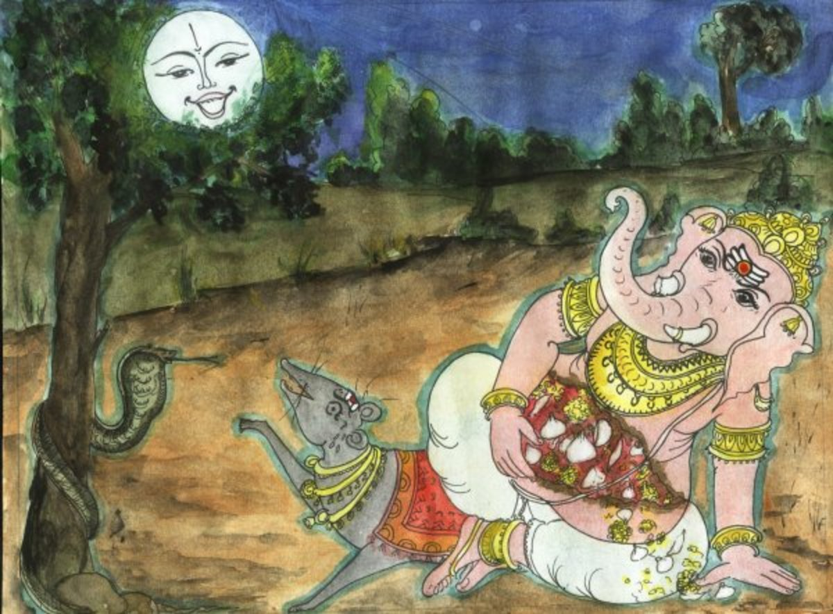 Lord Ganesha curses the vain moon.