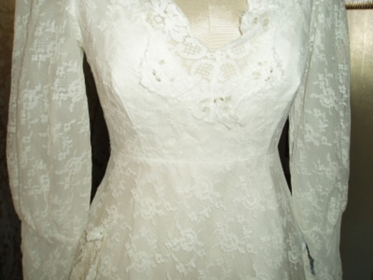 A perfect shabby chic dress for a Garden Wedding