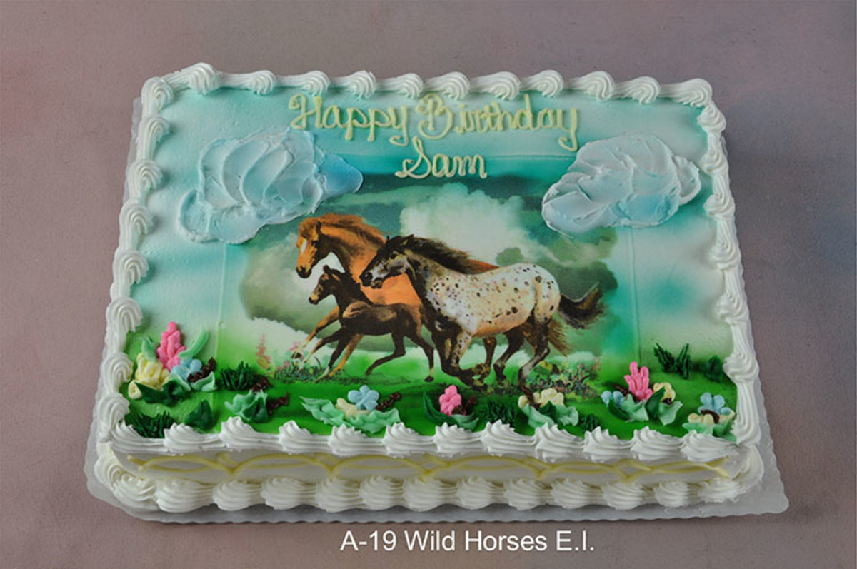 Edible Cake Images Horses : Top 10 Wild Horses Birthday Party Cakes
