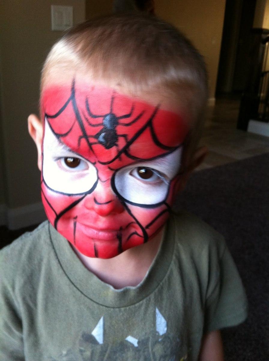 spidermanfacepaintingchildrenhalloween