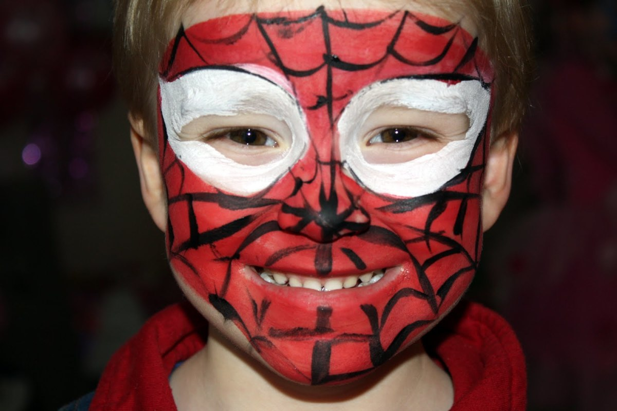 Spiderman Face Painting For Children Tutorials Tips And Designs | HubPages