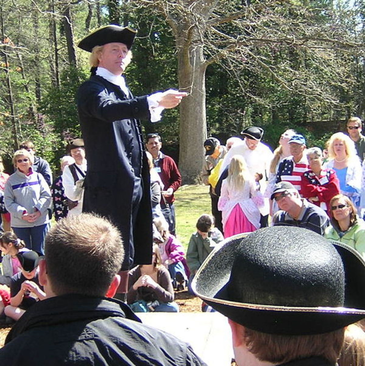 Thomas Jefferson Reenactment in Colonial Williamsburg by Larry Pieniazek