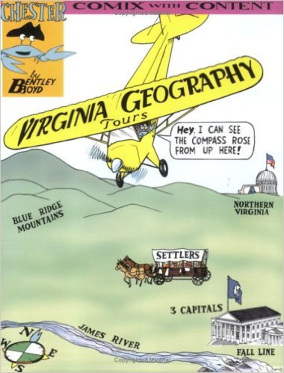 Virginia Geography (Chester the Crab) (Chester the Crab's Comix With Content) by Bentley Boyd