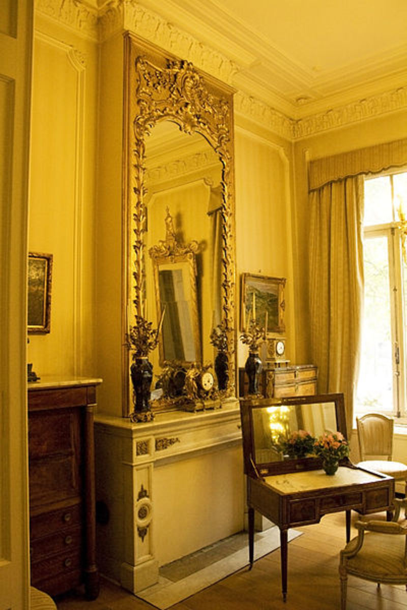 Mirrors were very ornate, long ago.