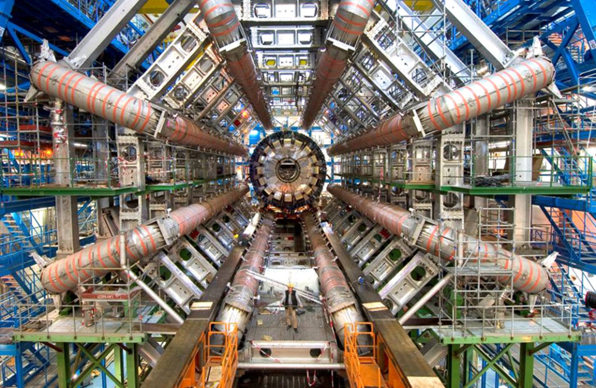 The Large Hadron Collider at CERN, where the Higgs boson was observed.