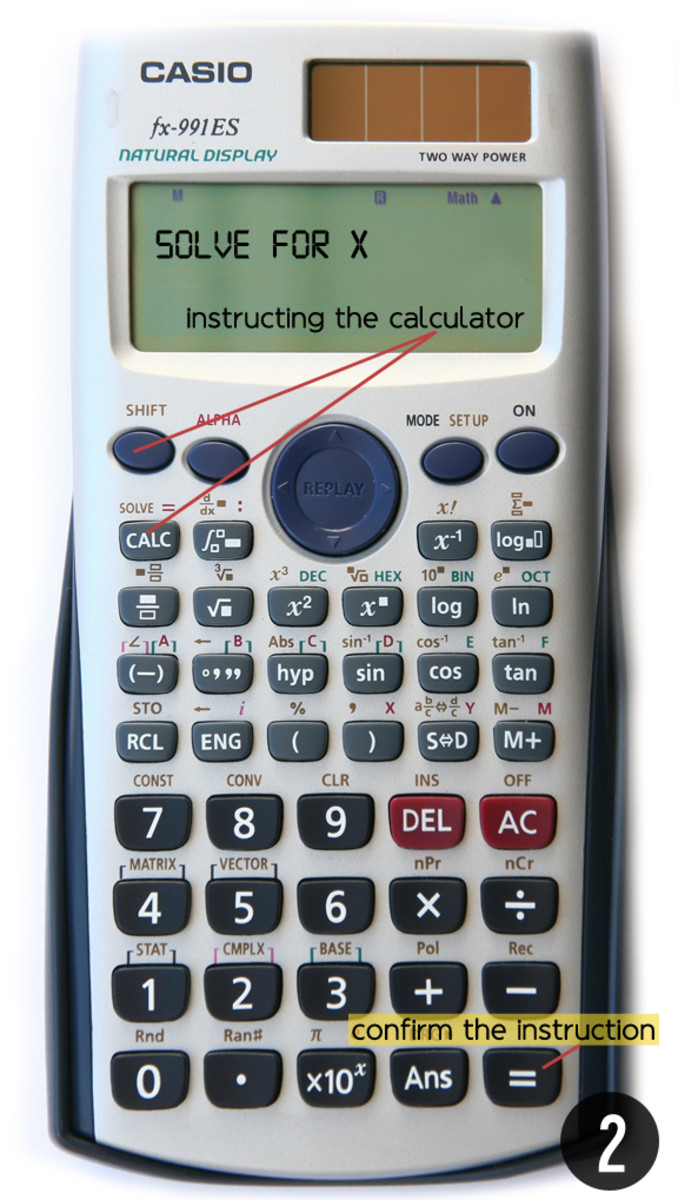 Step 2: How to Instruct the Calculator to Solve for X