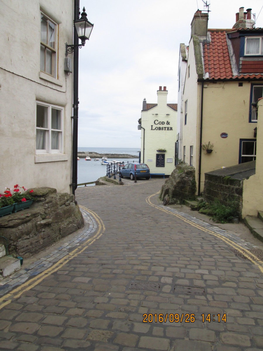 Nearing the seafront, the Cod & Lobster comes into view