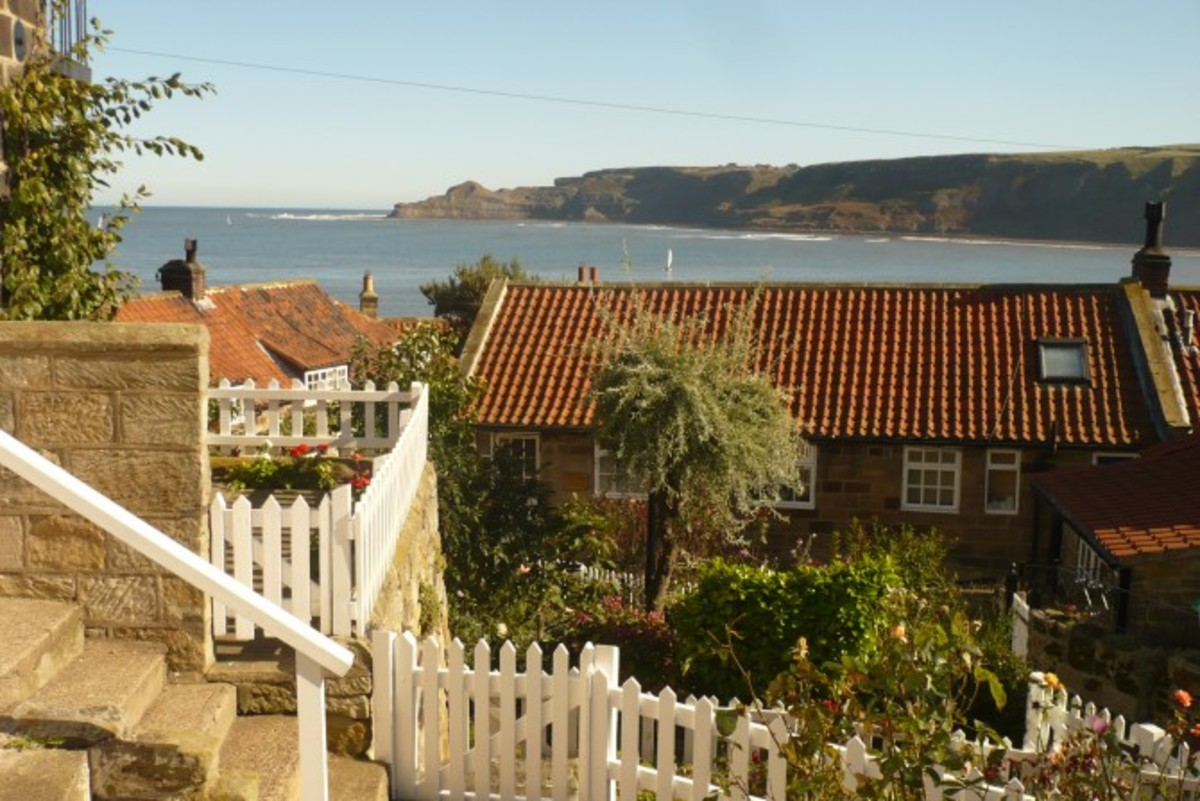 The footpath down to Runswick village leads past the slipway and joins with the roadway - access for fishing boats and local traffic only