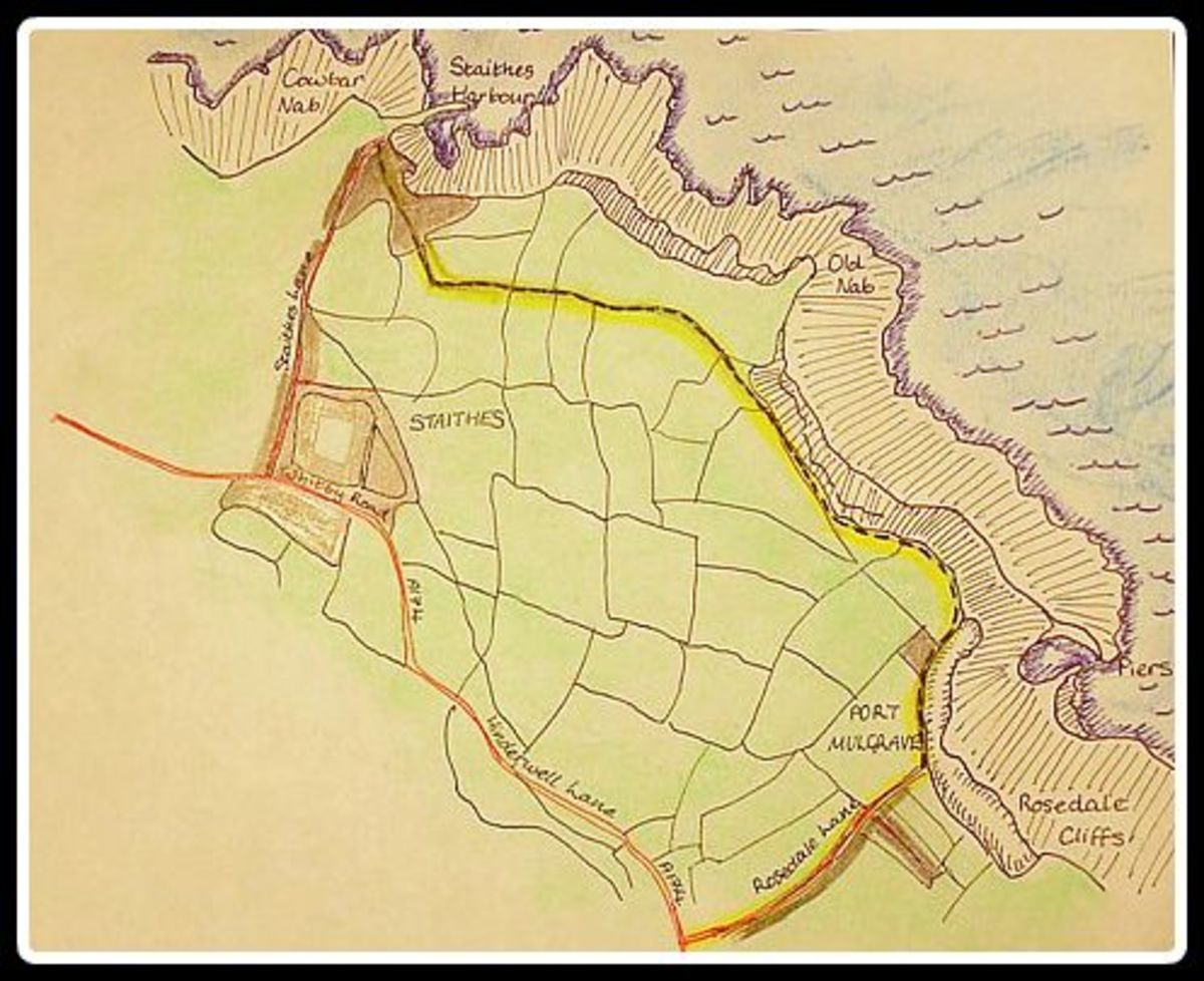 The walk from Hinderwell to Port Mulgrave and Staithes in diagram form