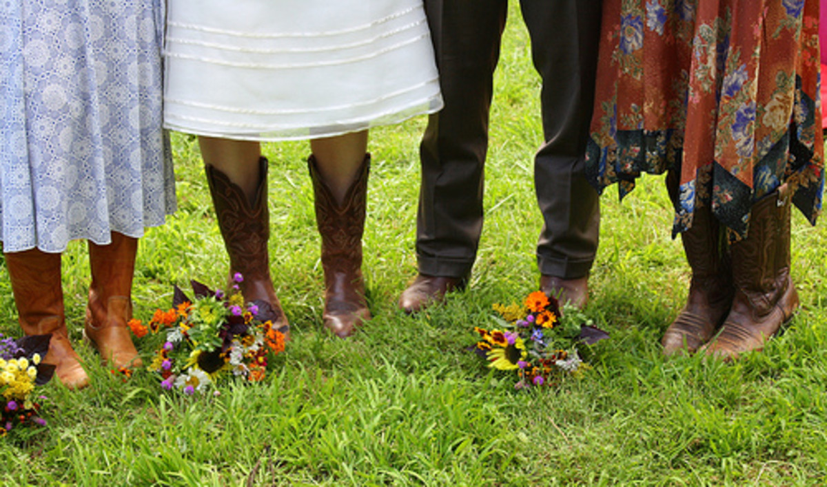 You can bravely pair cowboy boots with skirts and dresses!