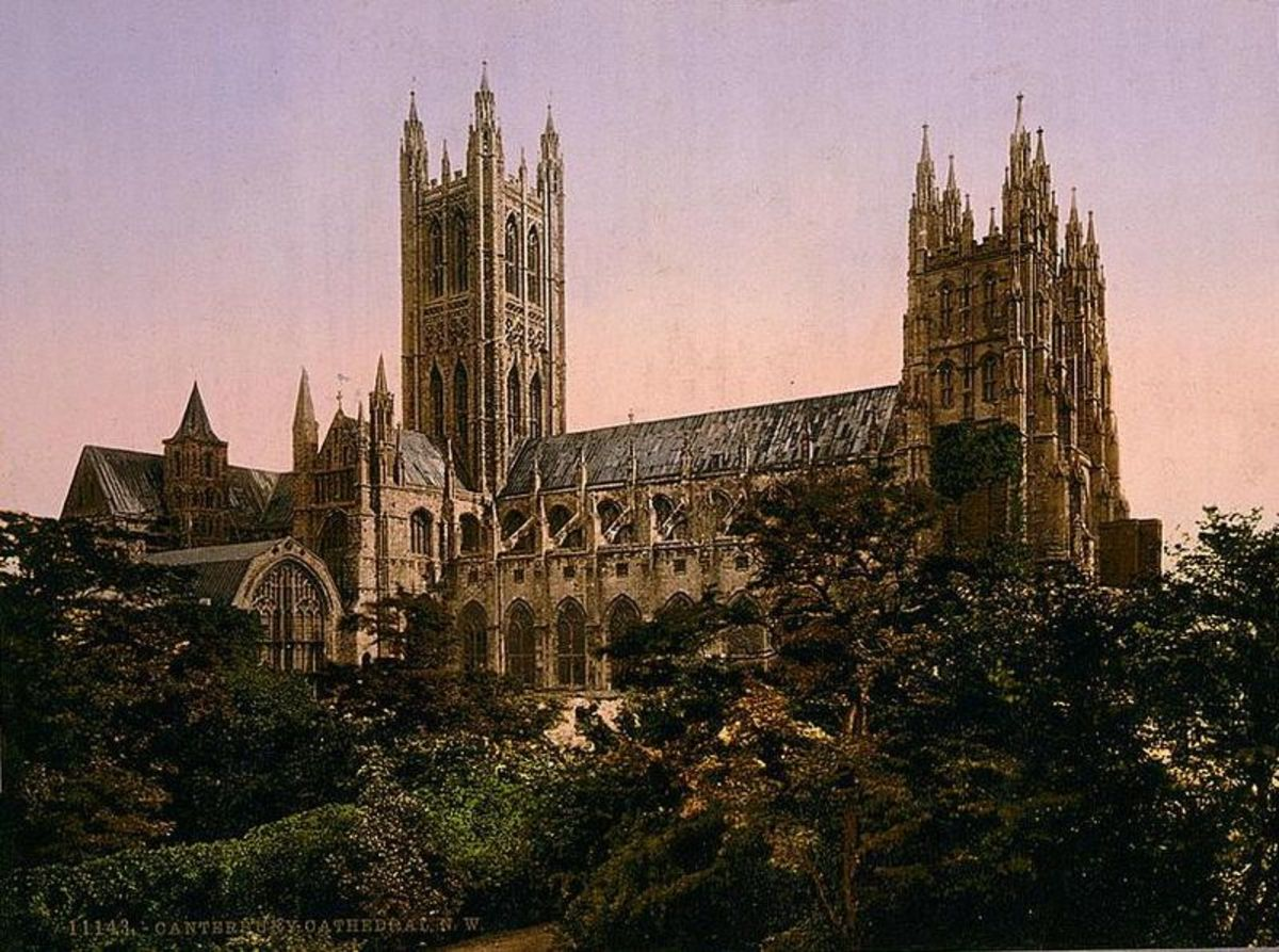 The Canterbury Cathedral - the destination of the pilgrimage in The Canterbury Tales.