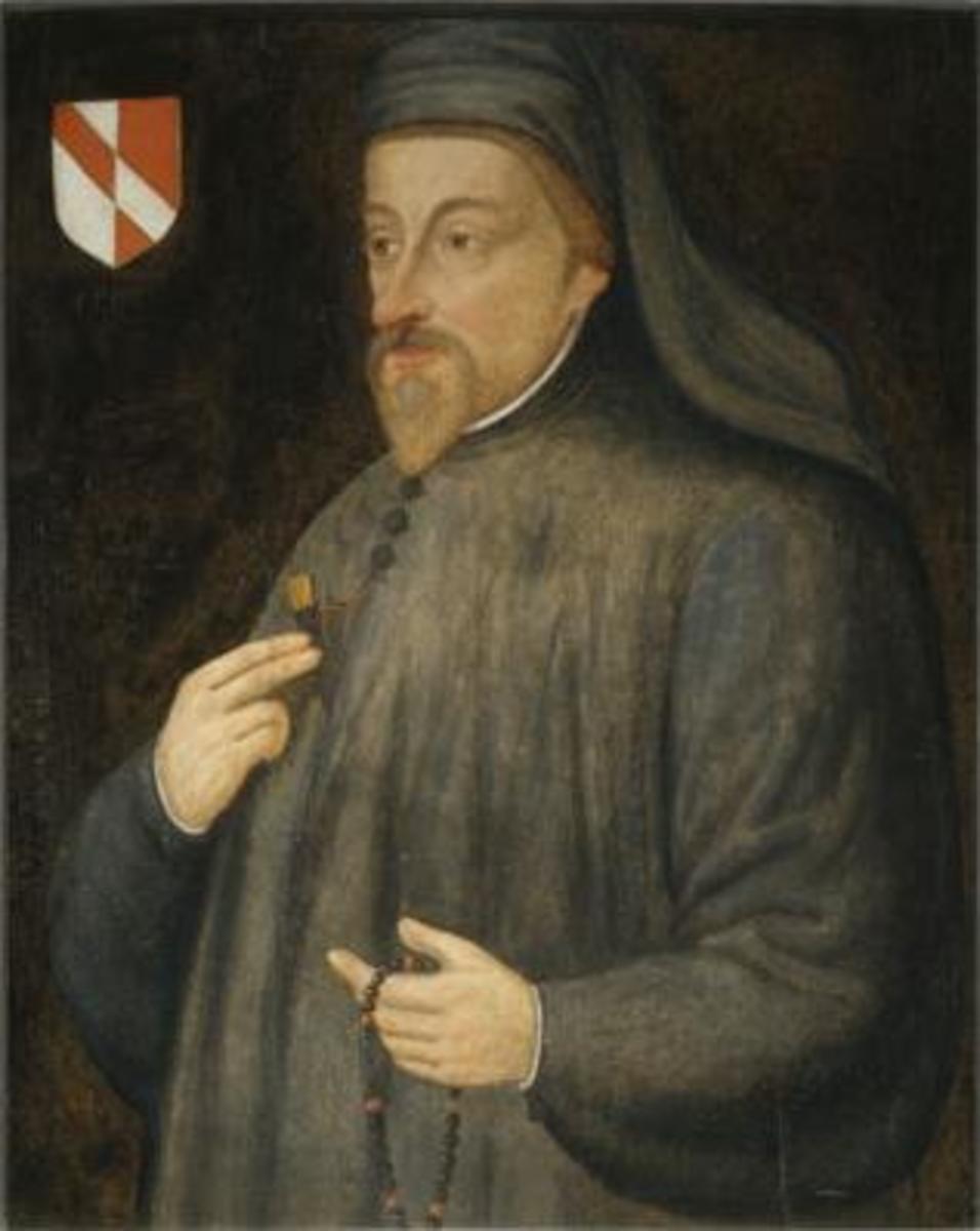 Portrait Geoffrey Chaucer.
