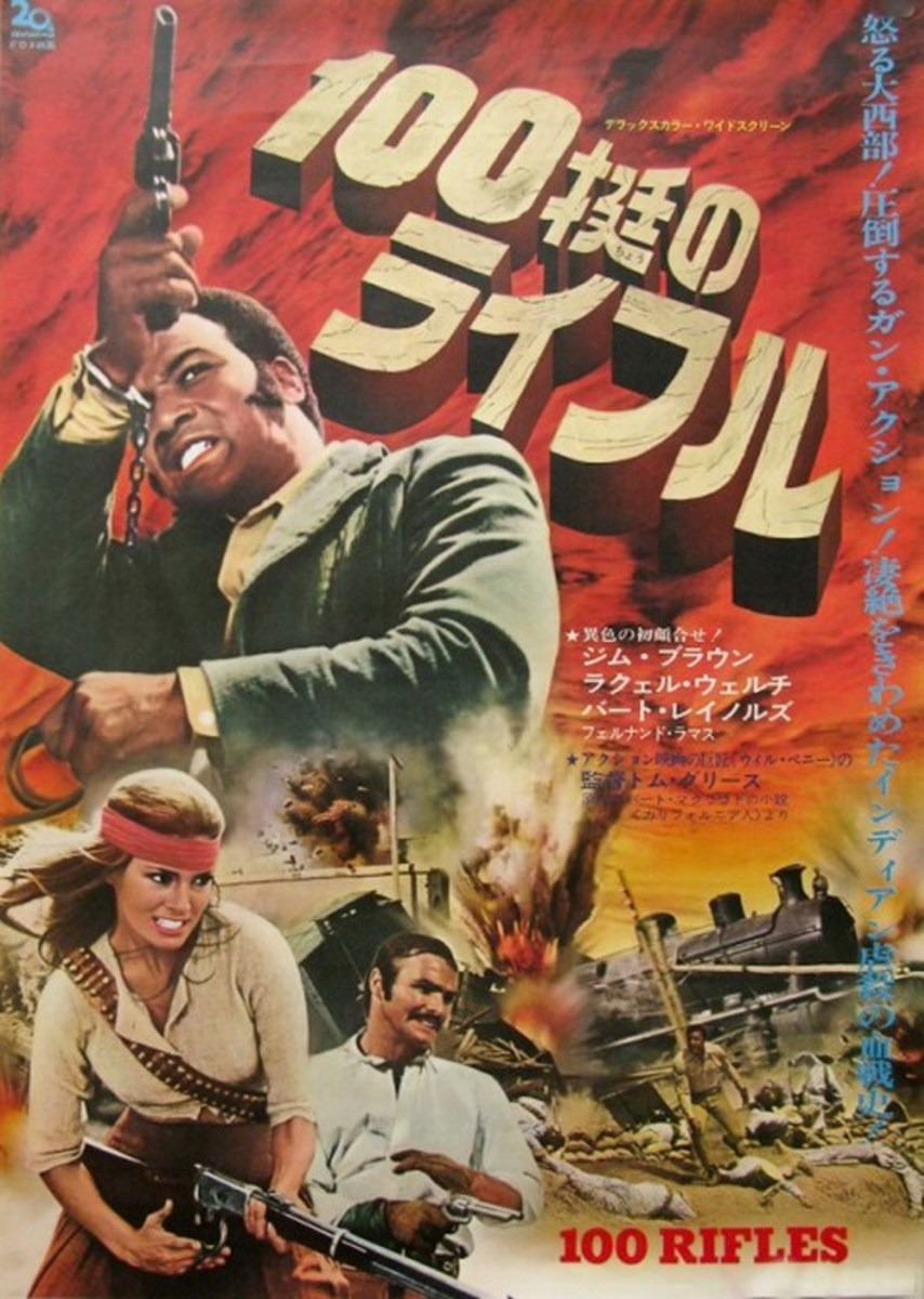 100 Rifles (1969) Japanese poster