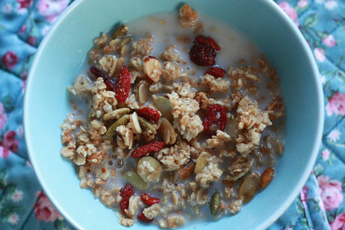 Adding toasted pumpkin seeds to granola is a great option during the fall.