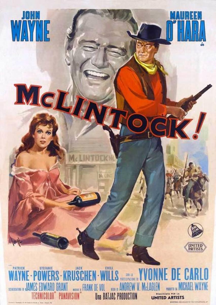McLintock! (1963) Italian poster