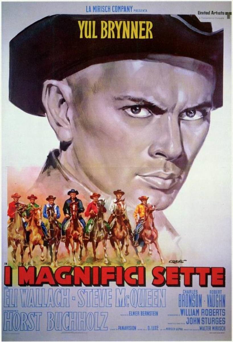 The Magnificent Seven (1960) Italian poster