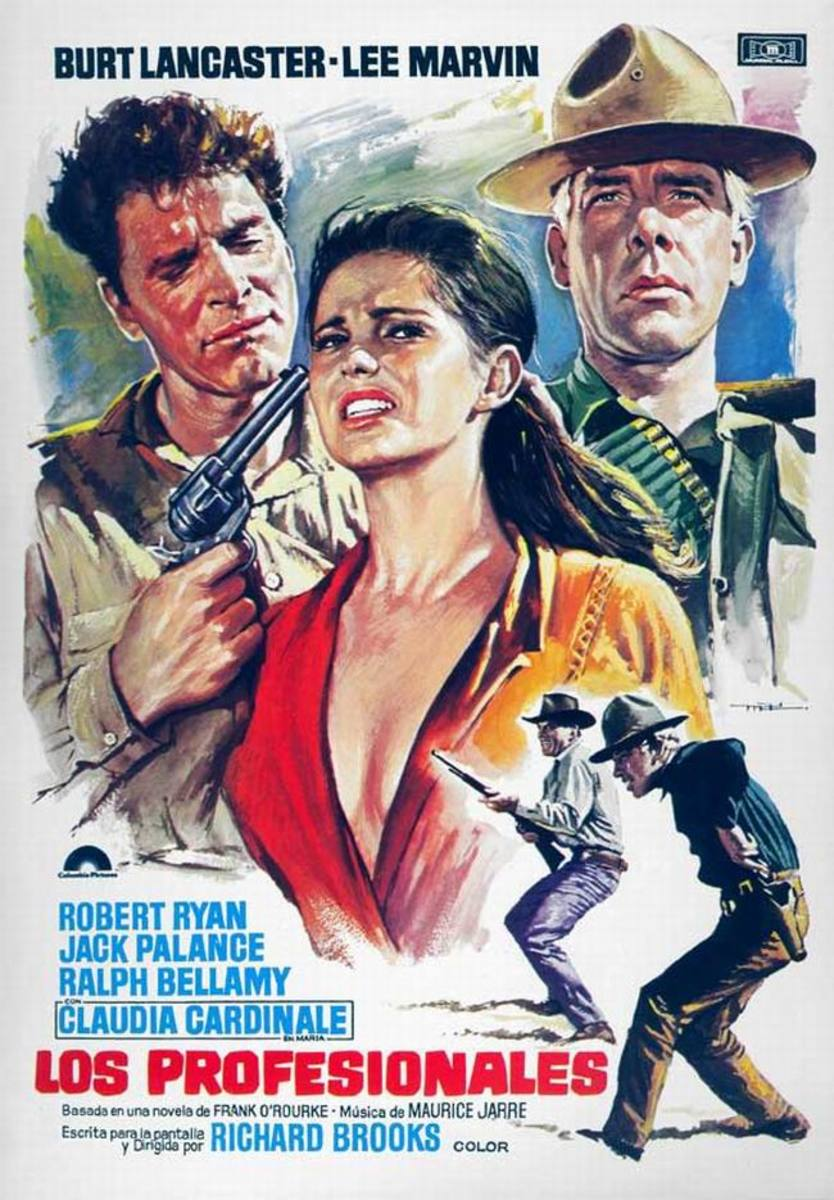 The Professionals (1966) Spanish poster