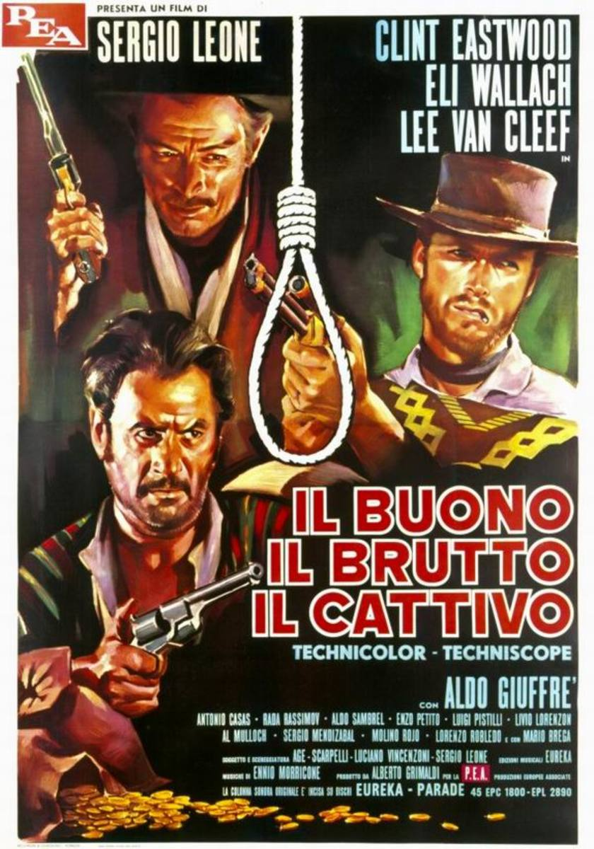 The Good the Bad and the Ugly (1966) Italian poster