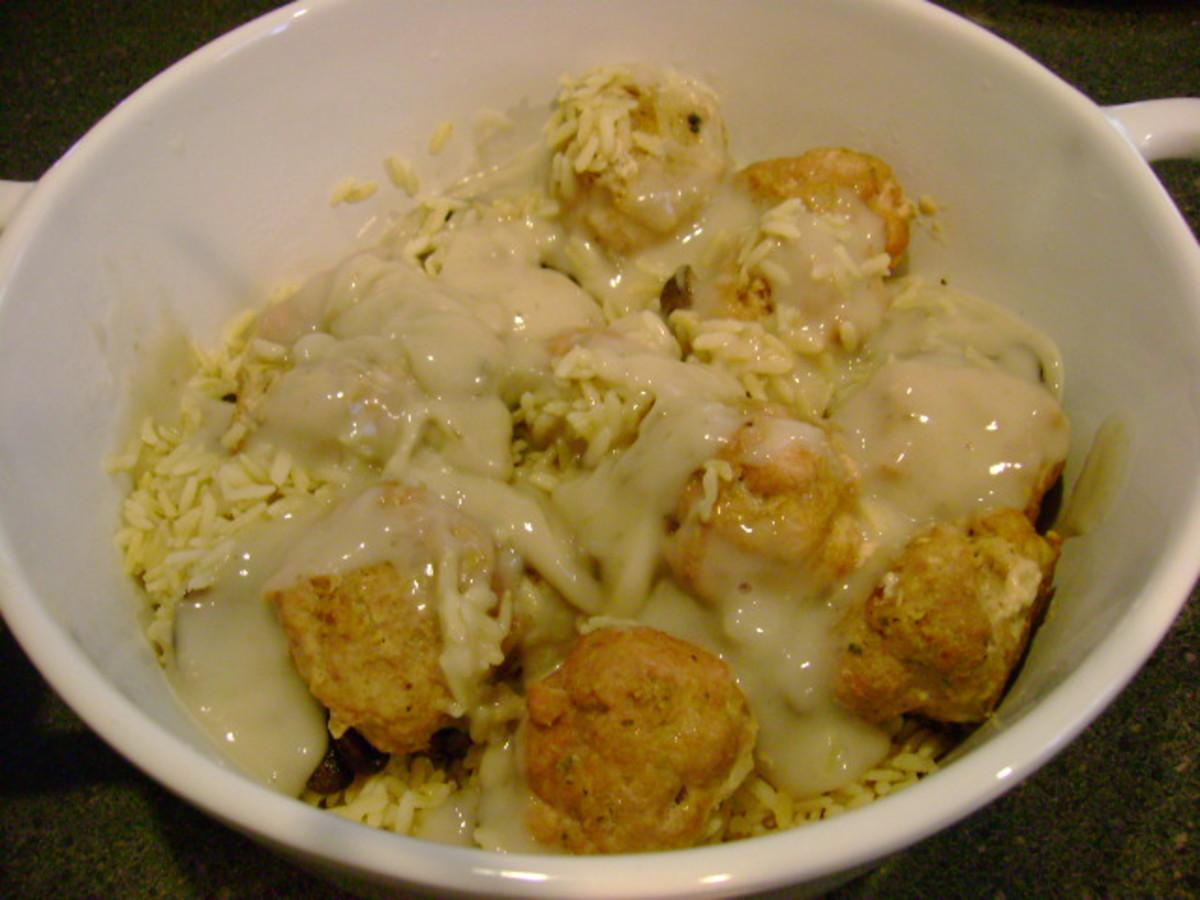 meatball and mushroom casserole