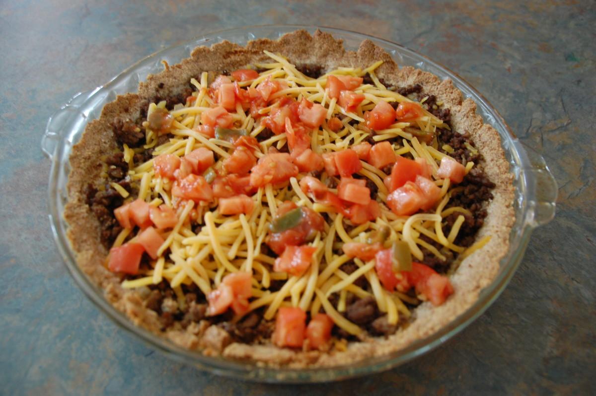 Taco Pie Made with an Almond Flour Crust