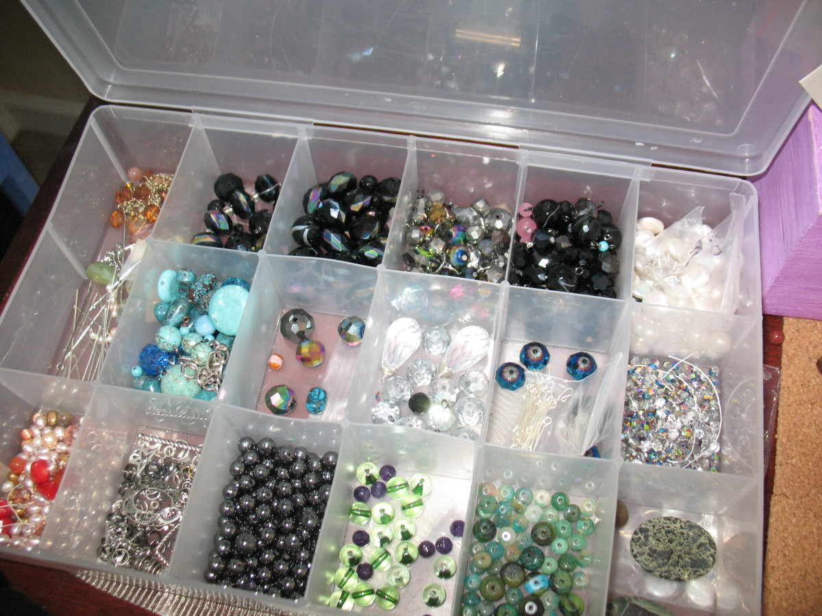 Begin slowly.  If you have a room full of hoarded craft supplies, tackle one bit at a time.