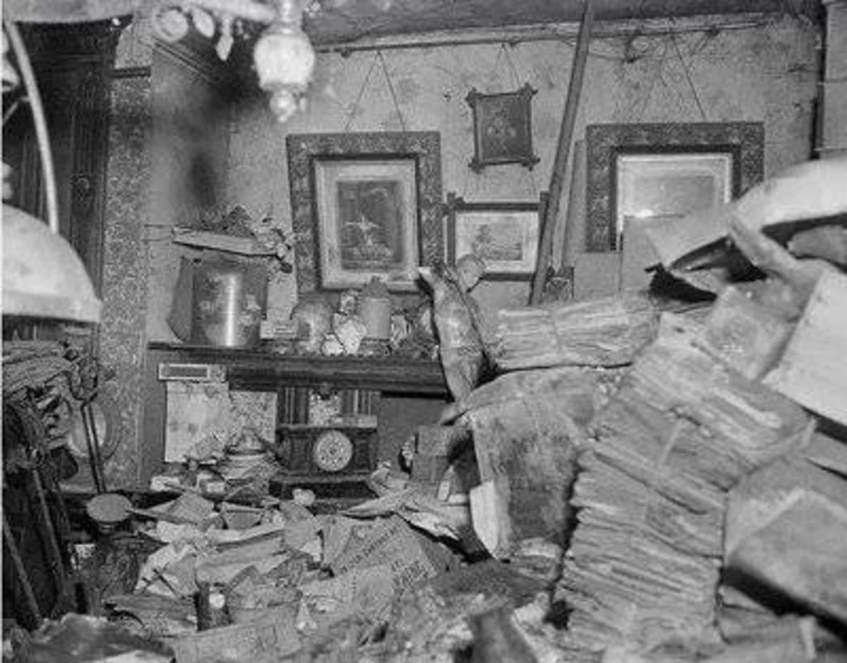 Look past the clutter and try to understand WHY the hoarder is saving newspapers, bags, old clothes, tools,etc.