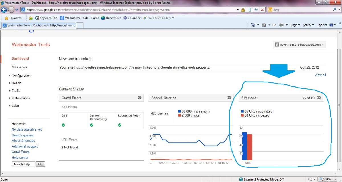 Hubpages sitemap successfully added to Google Webmaster Tools