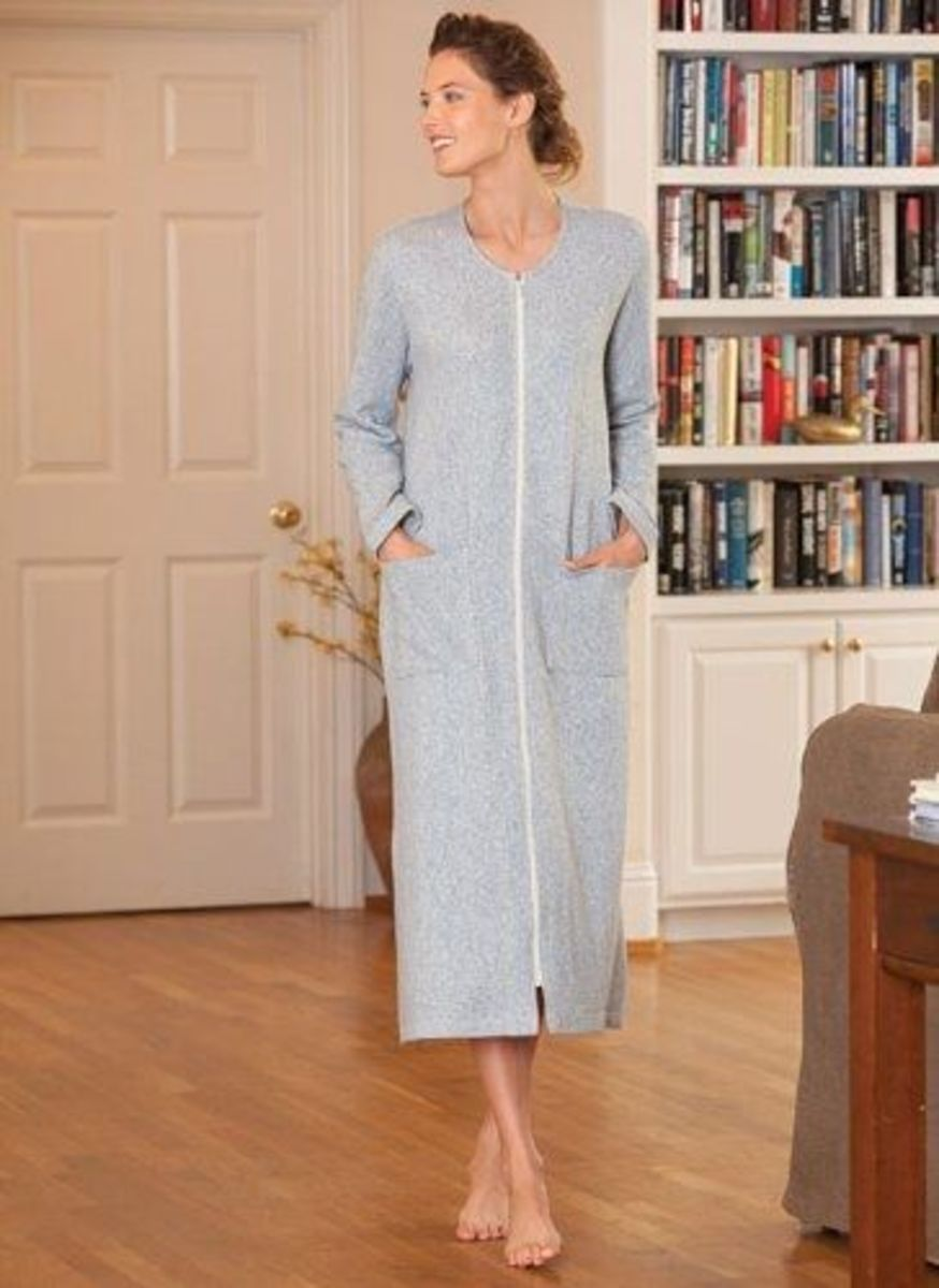 This zip-front robe is perfect for chilly mornings!