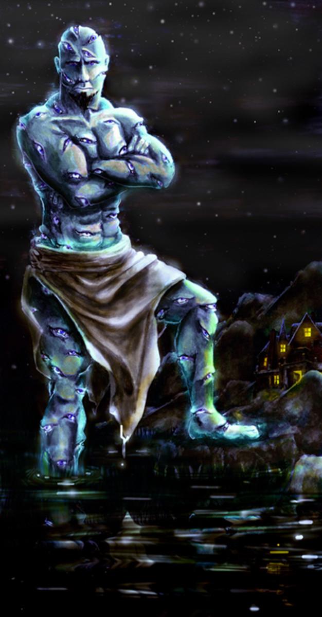 Argus, the hundred eyed giant