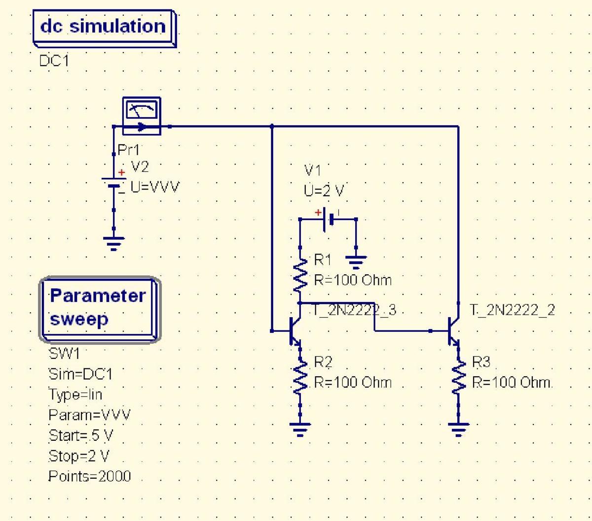 Negative dynamic resistance circuit.