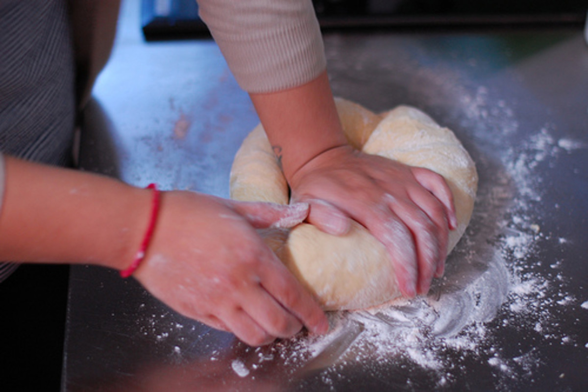 Knead the dough until it is soft