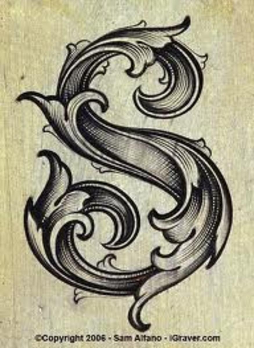 Vintage Leaf Font, So Pretty.