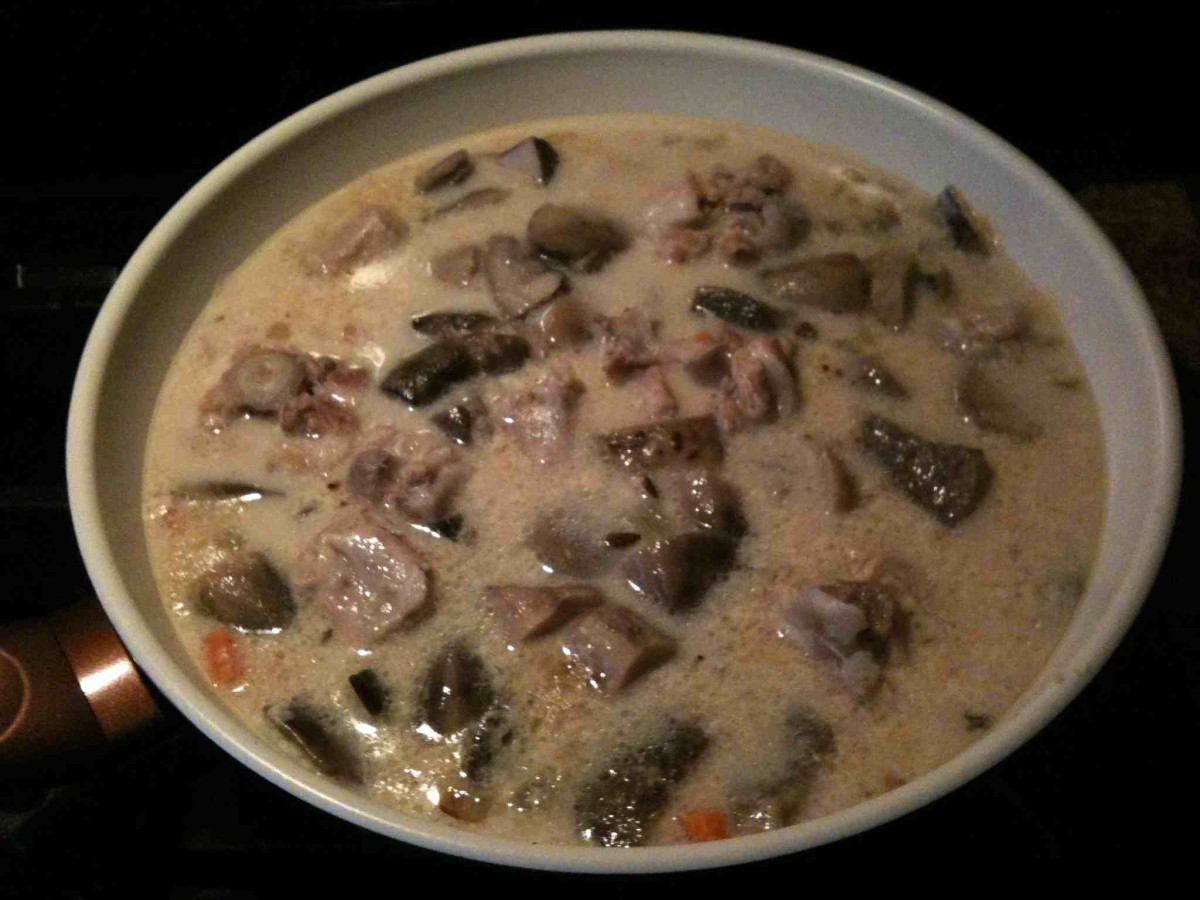 Soup Recipes: Mushroom Soup with Ox Tail