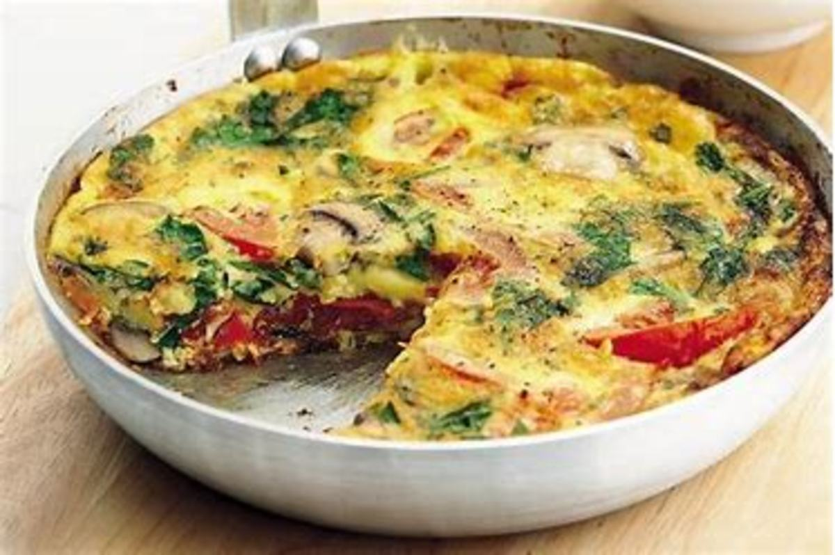 Tomato and Broccoli Frittata