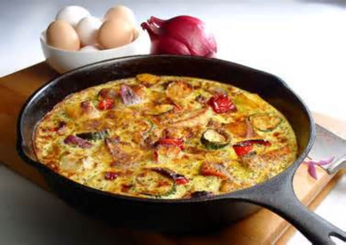 Fritta can be made in an iron skillet on top of stove or in the oven.