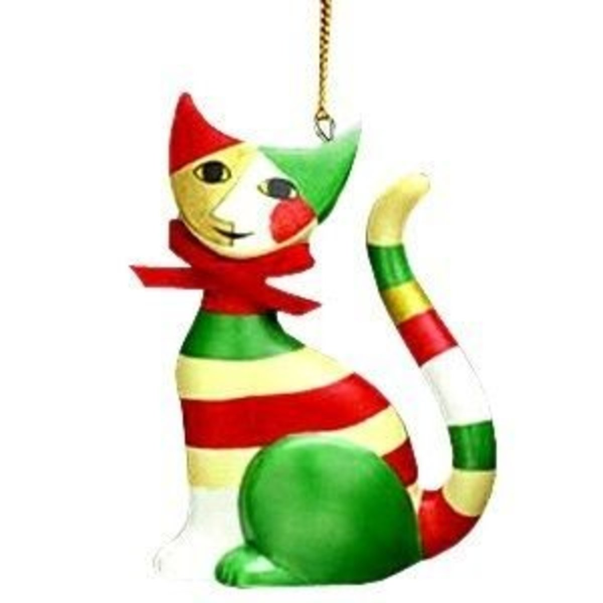 The Goebel Gianni Cat Christmas Ornament For Cat Lovers Is Hand Painted By Artist Rosine Wachtmesiter.  Image Credit: Amazon