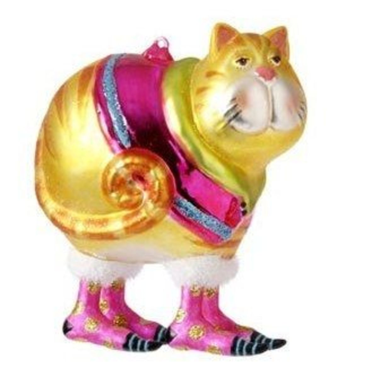 Glass Cat Ornament From RAZ - RAZ Has Four Cat Ornaments In Different Shapes And Colors, So Go Pick Out Your Favorite!  Image Credit: Amazon