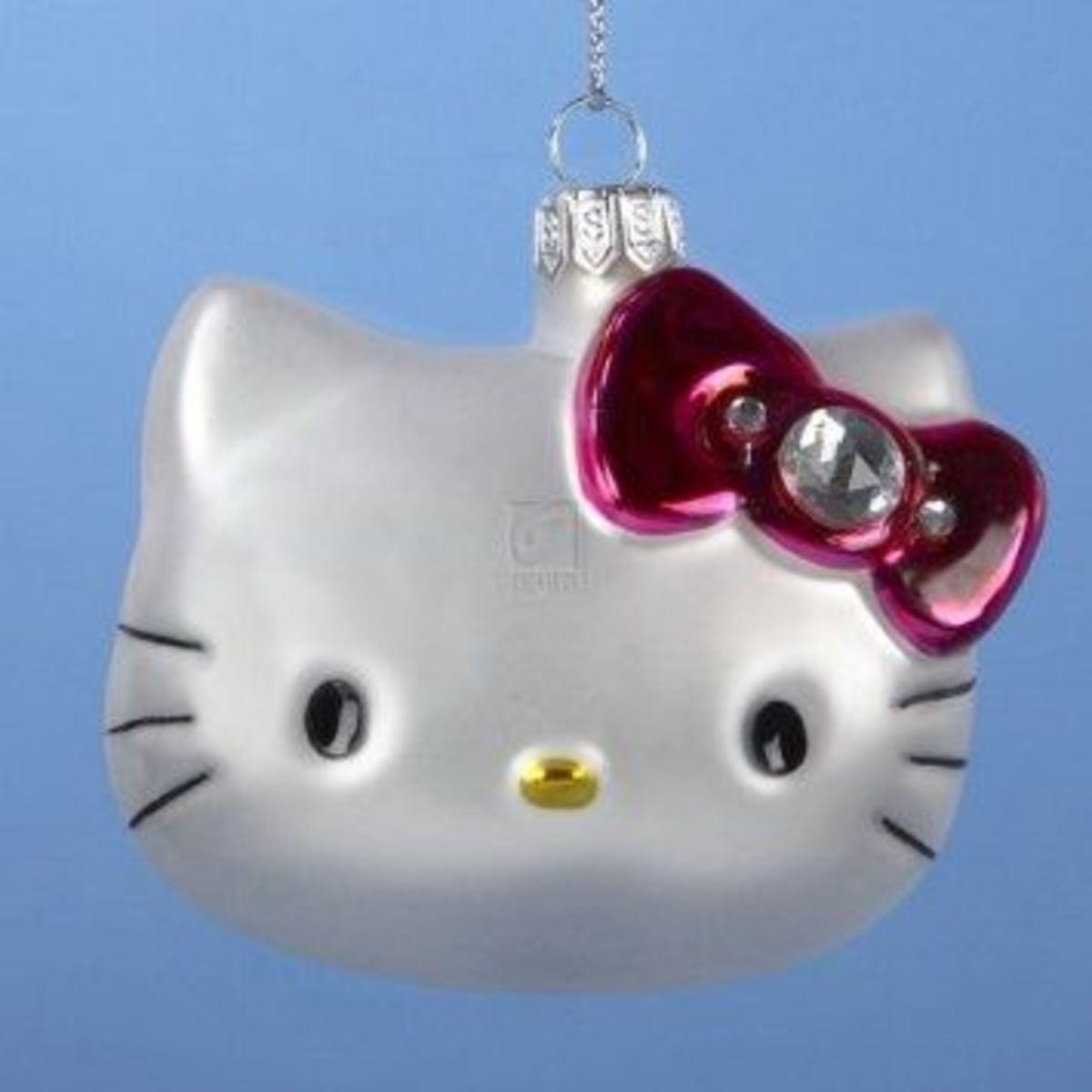 The Hello Kitty Cat Ornament Is A Favorite Of Kitty Fans And Cat Lovers Alike.  This Cute Cat Ornament Will Make A Welcome Addition To Any Cat Ornament Collection Or To Any Hello Kitty Collection.  Image Credit: Amazon