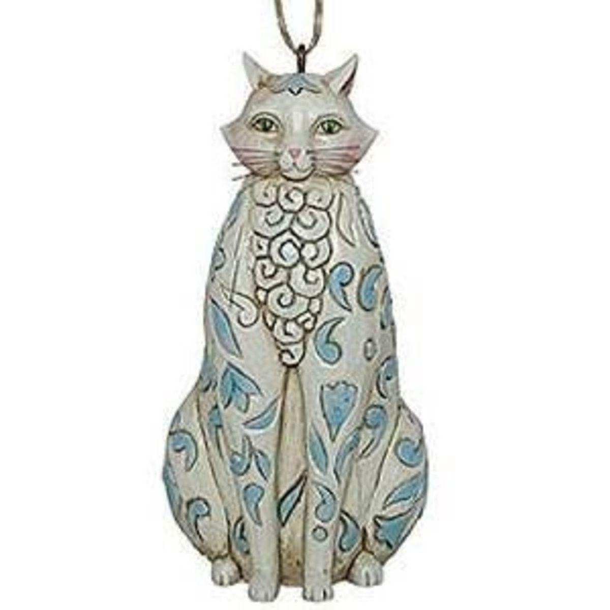 Jim Shore Cat Ornament From Heartwood Creek