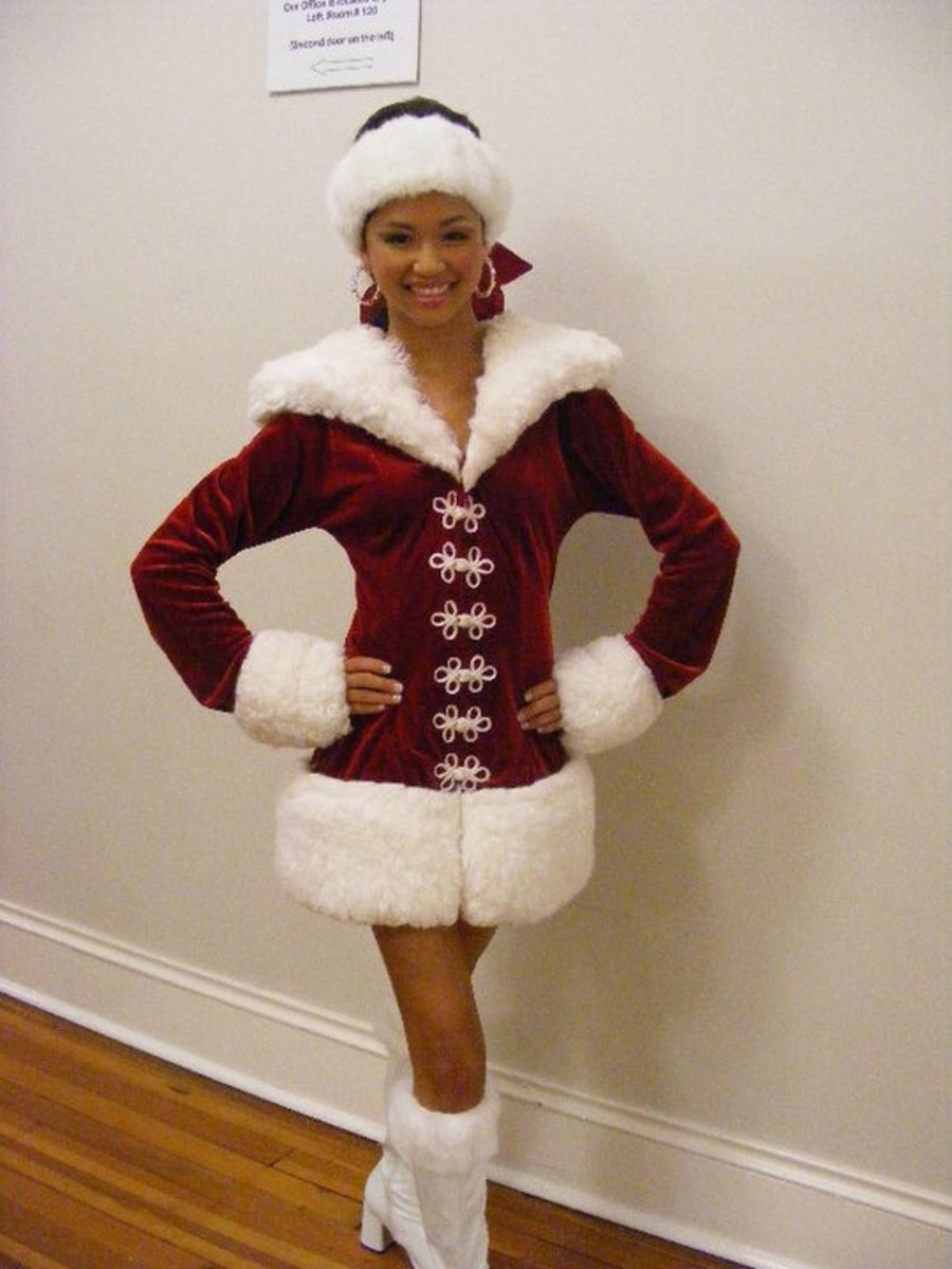 Madison in holiday wear.